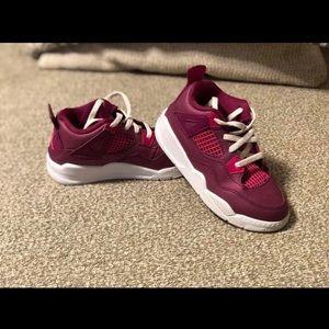 True Berry Retro 4 Jordan's size 10c